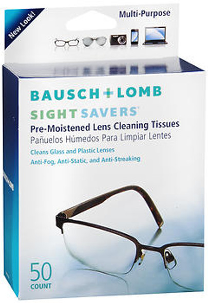 Bausch & Lomb Sight Savers Pre-Moistened Lens Cleaning Tissues - 50 ct