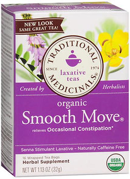 Traditional Medicinals Laxative Herbal Tea, Organic Smooth Move - 16 ct