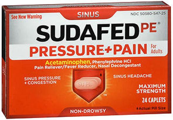 Sudafed PE Pressure + Pain Caplets - 24ct