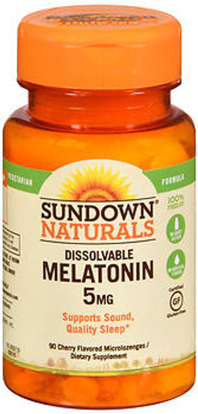 Sundown Naturals Quick Dissolve Melatonin 5 mg Microlozenges Cherry - 90 ct
