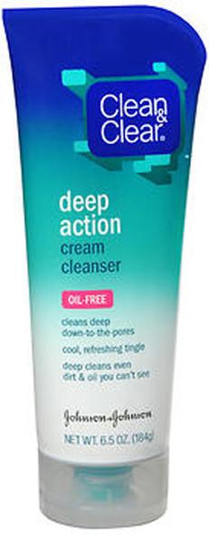 Clean & Clear Deep Action Cream Cleanser, Oil-Free - 6.5 oz