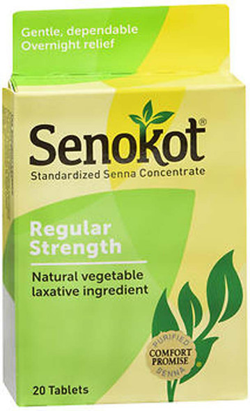 Senokot Natural Laxative - 20 Tablets
