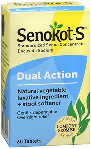 Senokot-S Natural Laxative plus Stool Softener - 60 ct