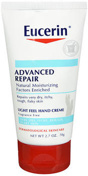 Eucerin Intensive Repair Hand Creme Fragrance Free - 2.7 oz