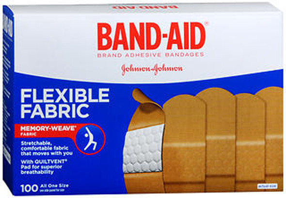 Band-Aid Flexible Fabric All One Size Adhesive Bandages - 100 ct