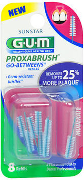 GUM Go-Betweens Proxabrush Refills Moderate - 8 ct