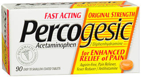 Percogesic Tablets Original Strength - 90 ct