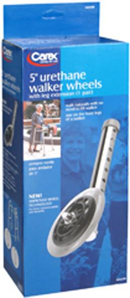 Carex Urethane Walker Wheels 5 Inch - 2 each