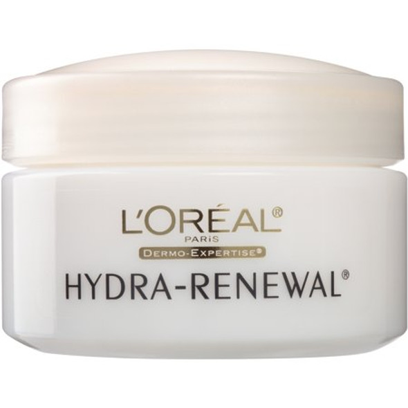 L'Oreal Hydra-Renewal Continuous Moisture Cream Dry/Sensitive Skin (new formula)- 1.7 oz