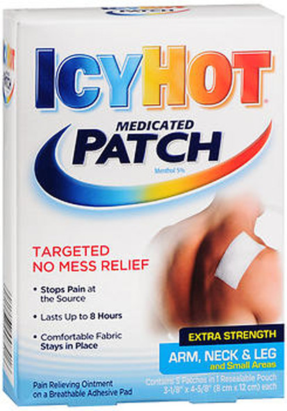 Icy Hot Medicated Patches Extra Strength Small Arm Neck Leg - 5 ct