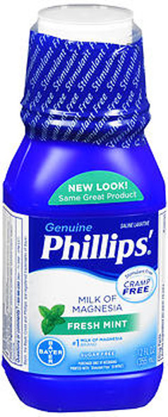 Phillips Milk of Magnesia Fresh Mint - 12 oz
