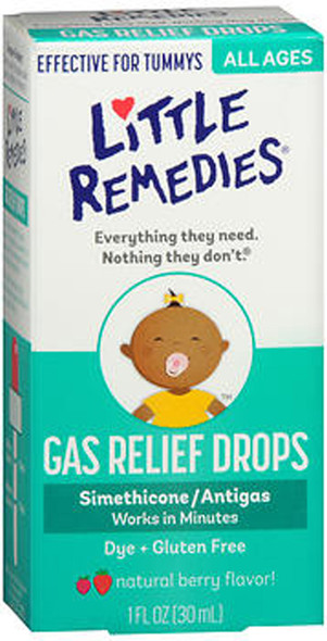 Little Tummy's Gas Relief Drops Natural Berry Flavor - 1 oz