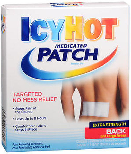 Icy Hot Medicated Patches Back and Large Areas - 5 ct