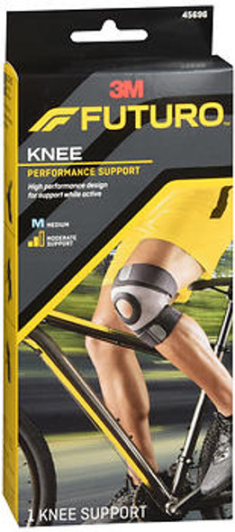 Futuro Sport Moisture Control Knee Support Medium Black, 45696EN
