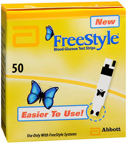 FreeStyle Blood Glucose Test Strips - 50 ct
