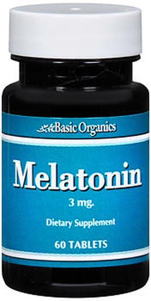 Basic Organics Melatonin 3 mg Tablets - 60 ct