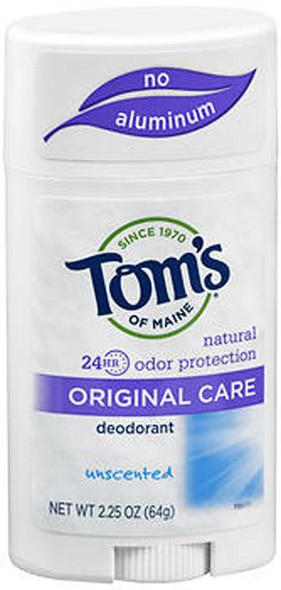 Tom's of Maine Original Care Natural Deodorant Stick Unscented - 2.25 oz