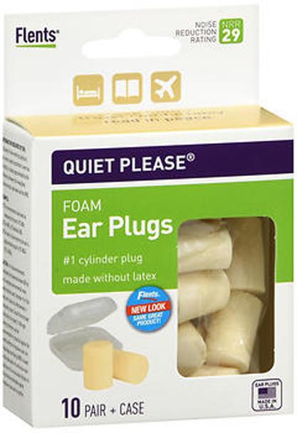 Flents Quiet Please Comfort Foam Ear Plugs - 10 pairs