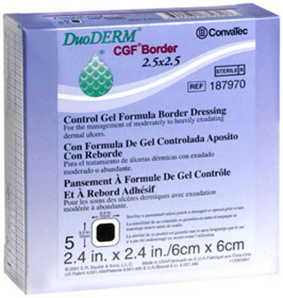 DuoDERM Control Gel Formula Dressings 2.4 X 2.4 Inches - 5 Each