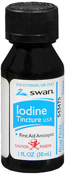 Swan Iodine Tincture First Aid Antiseptic - 1 oz