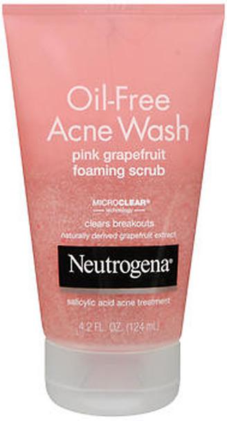 Neutrogena Oil-Free Acne Wash Foaming Scrub, Pink Grapefruit - 4.2 oz