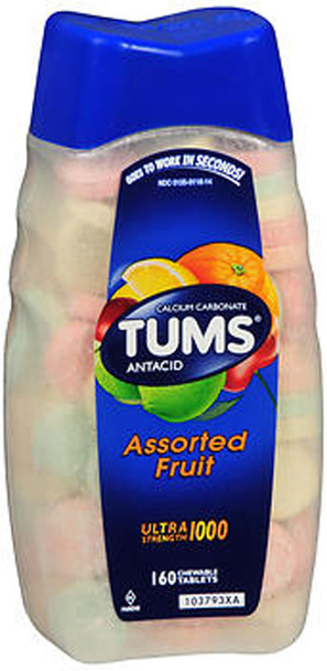 Tums Ultra 1000 Tablets Assorted Fruit - 160 ct