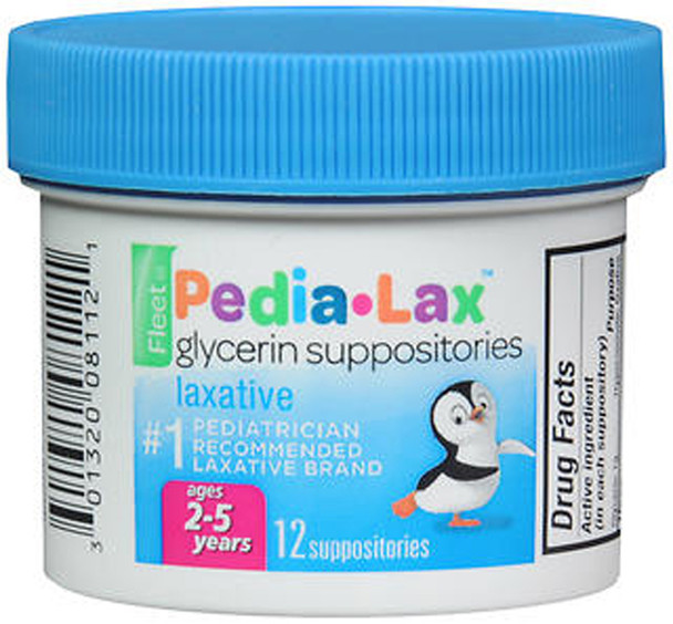 Fleet Pedia-Lax Glycerin Suppositories, Ages 2-5 years - 12 ea.