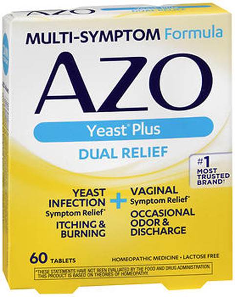 Azo Yeast Plus Tablets - 60 each