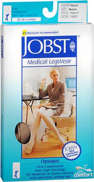 Jobst Medical Legwear, Opaque, Knee High, Beige, Medium, 20-30 Compression #115271