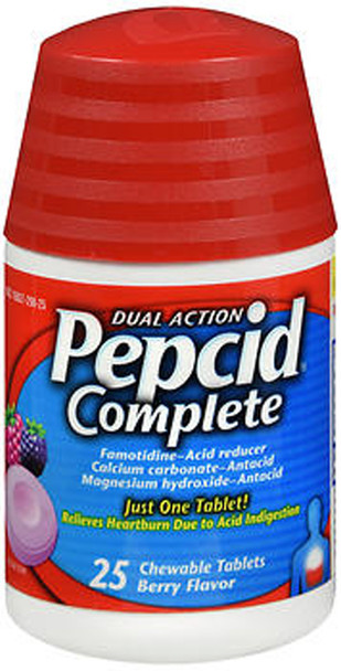Pepcid Complete Chewable Tablets Berry Flavor - 25 ct