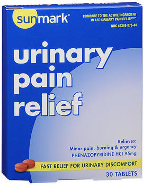 Sunmark Urinary Pain Relief Tablets - 30 Tablets