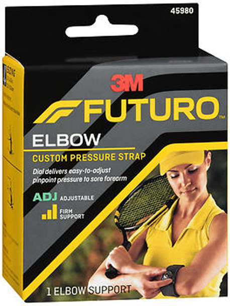 Futuro Sport Custom Dial Tennis Elbow Strap Adjust to Fit Firm Stabilizing Support - 1 ea.