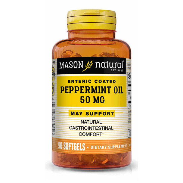 Mason Natural Peppermint Oil 50 mg Enteric Coated Softgels - 90 Softgels