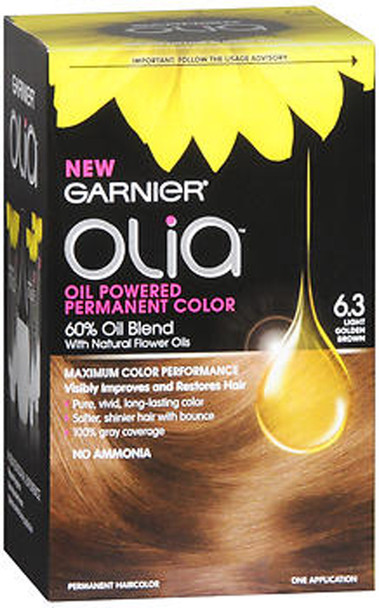 Garnier Olia Oil Powered Permanent Color 6.3 Light Golden Brown - 1ea
