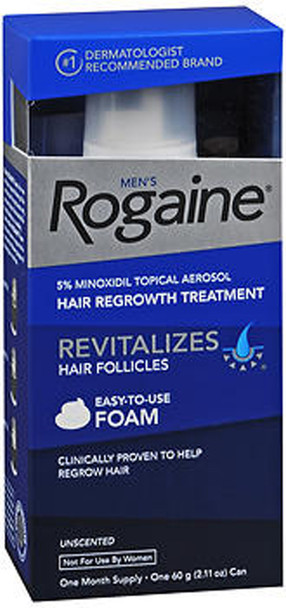 Rogaine Men's Hair Regrowth Treatment, Unscented - 2.11 oz
