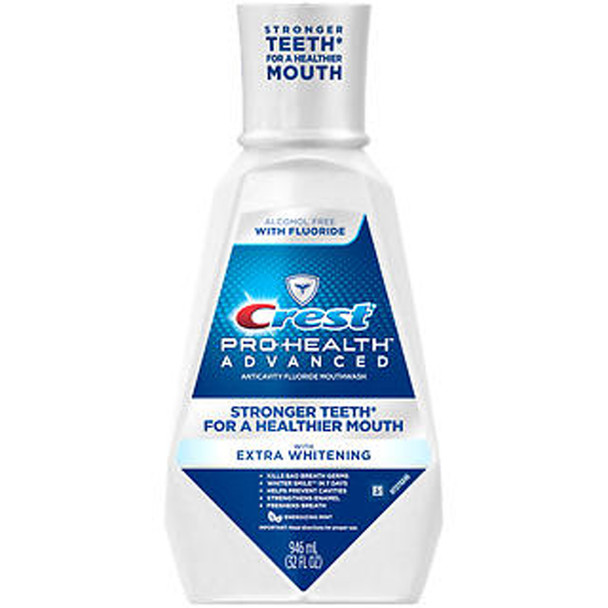 Crest Pro-Health Advanced Mouthwash with Whitening in Energizing Mint - 946 ML