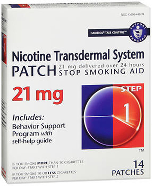 Habitrol Nicotine Transdermal System Step 1, 21mg Stop Smoking Aid - 14 each