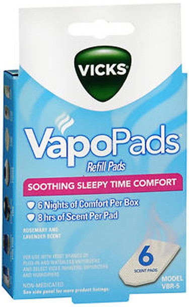 Vicks VapoPads Refill Pads Rosemary and Lavender Scent - 6 ct