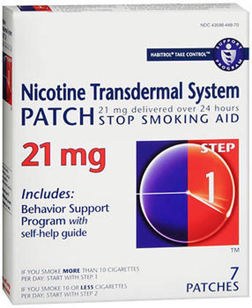 Habitrol Nicotine Transdermal System Patch 21 mg Step 1 - 7 ct