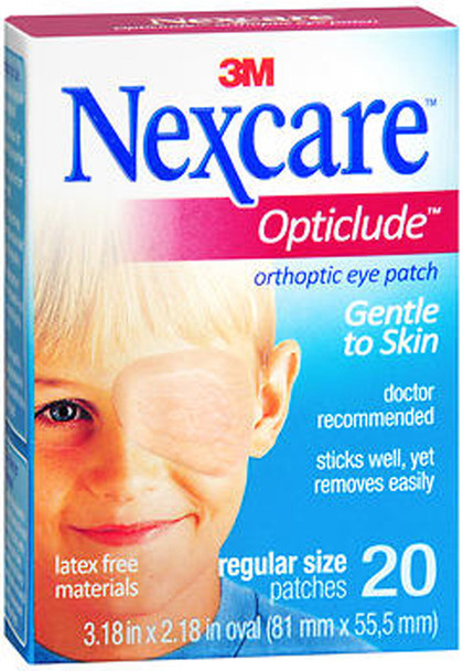 Nexcare Opticlude Orthoptic Eye Patches - 20 patches
