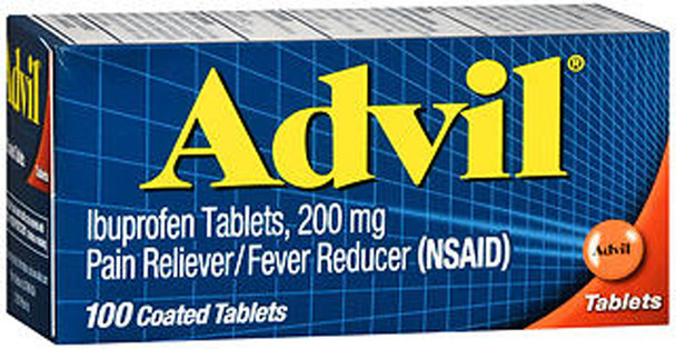 Advil Ibuprofen Pain Reliever/Fever Reduce, 200 mg Coated Tablets - 100 ct