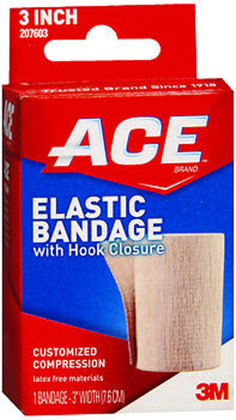 "Ace Elastic Bandage with Hook Closure 3"" Width"