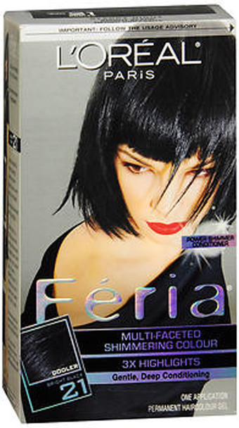 L'Oreal Feria 21 Multi-Faceted  Shimmering Colour Permanent Haircolour Kit Starry Night - 1 ea.