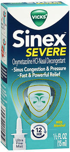 Vicks Sinex Decongestant Nasal Spray Severe - 0.5 oz