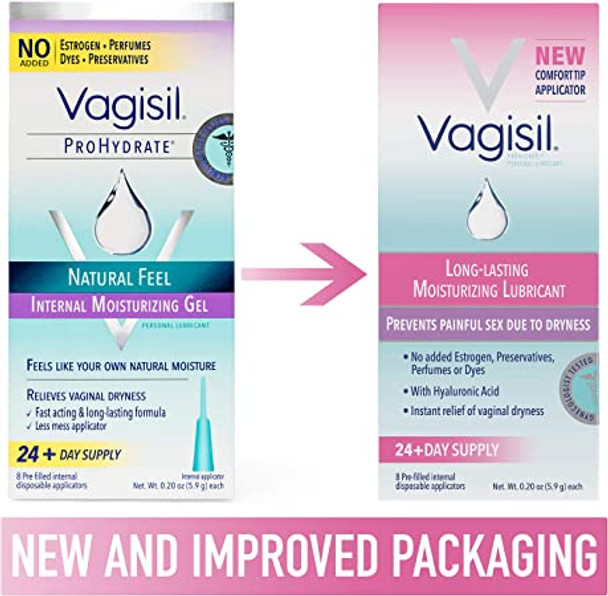Vagisil ProHydrate Natural Feel Internal Vaginal Moisturizing Gel - 8 ct