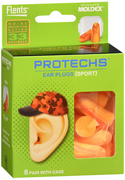 Flents Protechs Ear Plugs Sport - 8 pairs