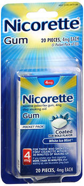 Nicorette Nicotine Polacrilex Gum 4 mg White Ice Mint - 20 ct