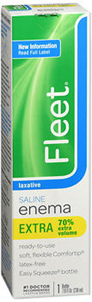 Fleet Enema, Ready-to-Use Saline Laxative  7.8 fl oz