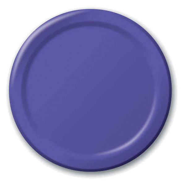 "Solid Color Luncheon Plate, Purple, 7"" - 1 Pkg"