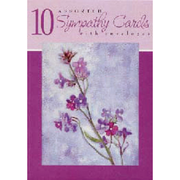 Boxed Greeting Cards - Sympathy Asst, 10 Ct -1 Box